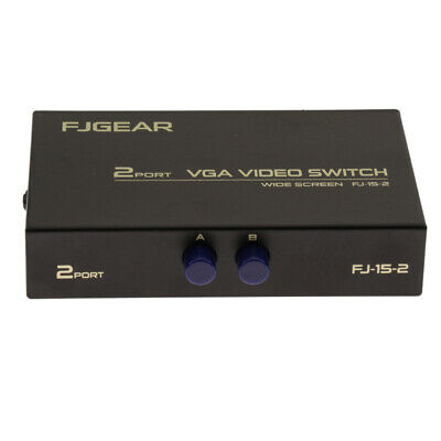 2 Port VGA Schalter Video Manual Switcher Box 2 x 1 Selector 2 PC In 1 Out