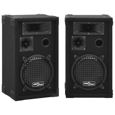 vidaXL 2x Altavoces Pasivos Escenario Profesional Hifi 800 W Negro Fiesta Caja