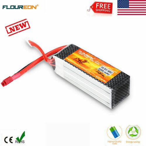 FLOUREON 4S 14.8V 2200mAh 45C T Plug Lipo Battery Pack For R