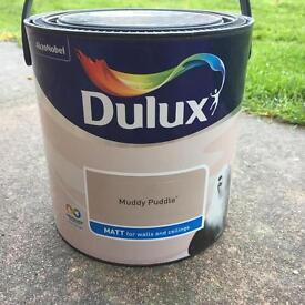 Brand new dulux muddy puddle paint 2.5L