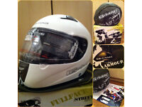 G-Mac Pilot - Large/White / Motorcycle Helmet - Never Worn - RRP £60 -Read For More Info Thanks