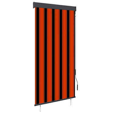 vidaXL Outdoor Vertical Roller Blind 100cm Orange and Brown Balcony Awning