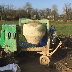 Belle 100xt key start cement mixer