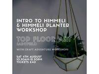 Himmeli planter workshop including himmeli intro