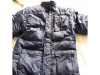 Boys navy puffa jacket gap age 12-14