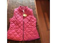 Joules ladies pink waistcoat (new)