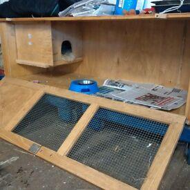 Large hutch suitable for rabbits, guinea pigs etc