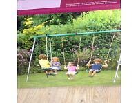 Plum Outdoor Children,s Double Swing and Glider Fun Set-New and Boxed.