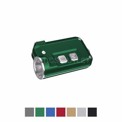 NITECORE TINI 380 Lumens Mini Metallic USB Rechargeable Keychain Light (Green)