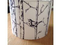 Jenny Wren Birch Tree Fabric Lampshade or Lightshade