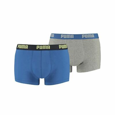 Gents Mens Puma 2 Pack Cotton Rich Trunk Boxer Shorts
