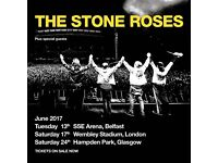 The Stone Roses Ticket - Floor Standing - Belfast