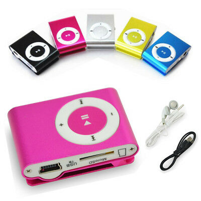 Hot New Mini Practical USB Clip MP3 Support 16GB Micro SD Card Media Player UK