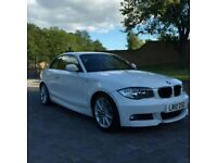 BMW 1SERIES WHITE MSPORT COUPE £30 ROAD TAX FULL BMW SERVICE HISTORY