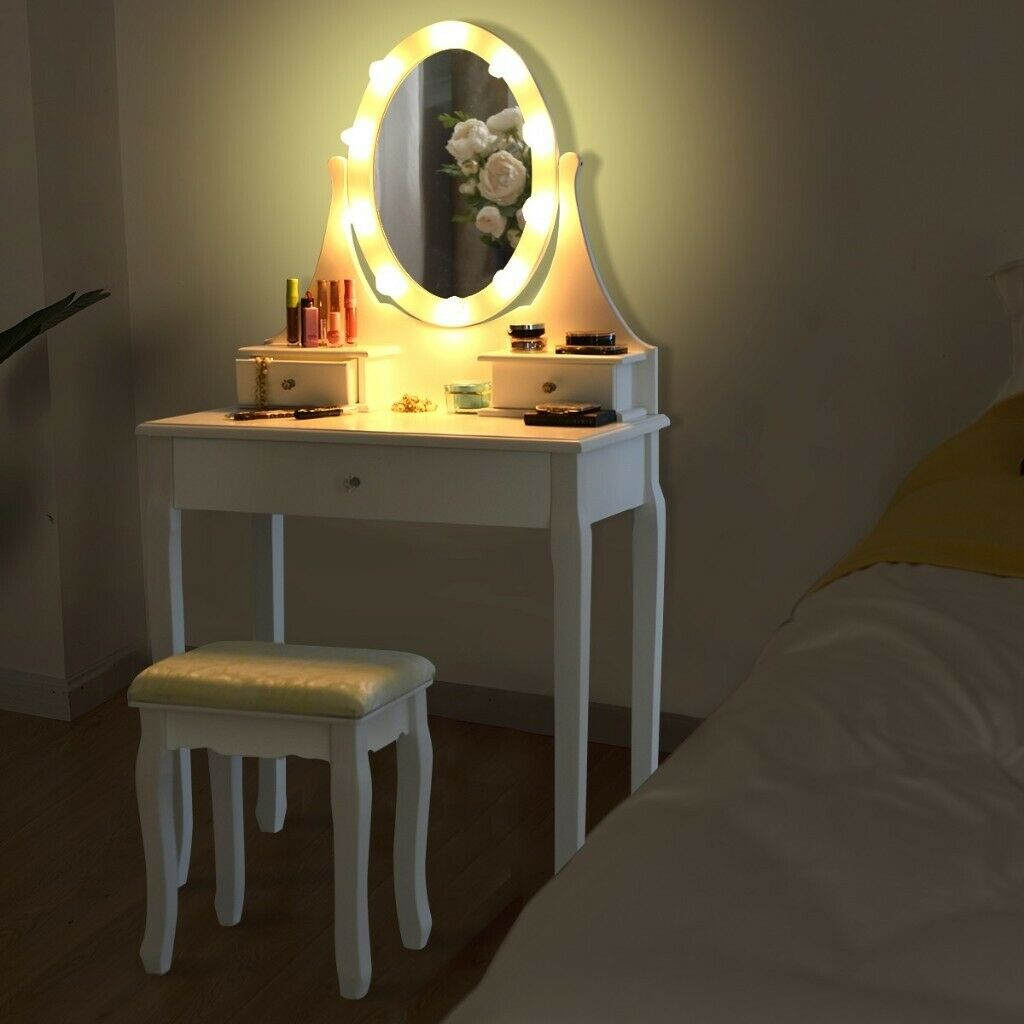 LED Dressing Table Set Cushioned Stool Modern Makeup Desk HW24  in  Ipswich, Suffolk  Gumtree