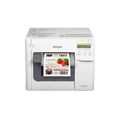 Epson Drucker Cutter (Farb Etikettendrucker Epson TM C3500 Cutter Display USB Ethernet C31CD54012CD)