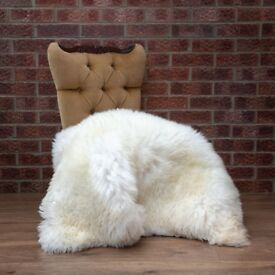 Extra Large Sheepskin Rug. 125cm. Very wide 85cm