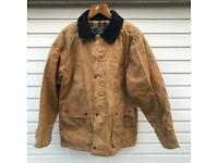 PG FIELD Wax cotton country jacket waterproof thornproof quilted lining MEDIUM