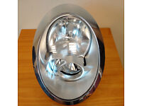 BMW MINI Cooper R50/R53 Gen 1 O/S Drivers Side Facelift Headlight with Chrome Surround.