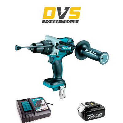 Makita DHP481Z 18v LXT Brushless Combi Drill with 5.0Ah Battery BL1850 Charger