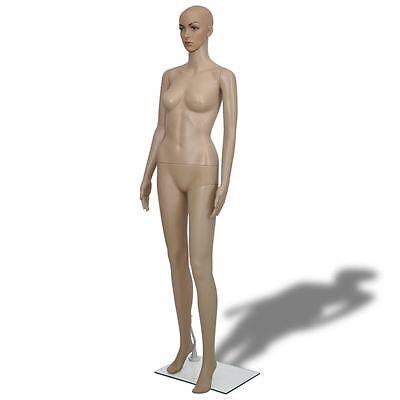 Female Mannequin Full Body PE Realistic Display Head Turns Dress Form w/ Base