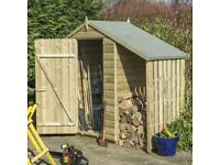 Rowlinson Oxford Shiplap Shed with Lean-to 4x3