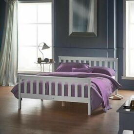 Pine Wood Bed 4FT Small Double Two Colours Frame Only Brand New