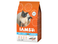 Iams Adult Cat Dry Food 3kg Fish and Chicken *New and unopened*