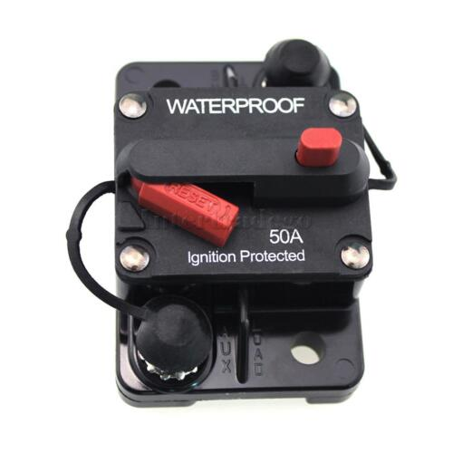50 amp manual reset circuit breaker 12v 24v boat accessory