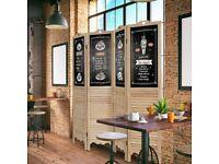 4 Panel Folding Divider Screen Home Room Decoration Protective DIY Chalkboard HW64377