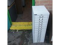 15 drawer filing unit