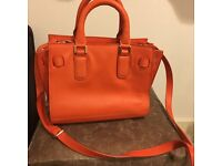 Next orange satchel handbag -excellent condition, only been used once