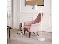 Gubi Bestlite BL3 floor lamp. Brass and matt white new in box