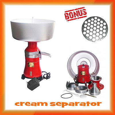 Overall Metal Milk Cream Electric Centrifugal Separator 100lh 18 110v Usa Plug