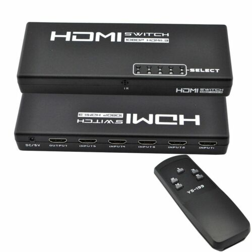5 Port 1 X 5 Hdmi Switch Switcher Selector Splitter Hub F...