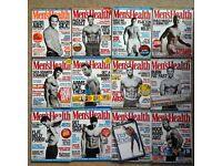 Twenty issues of Men's Health magazine including supplements job lot
