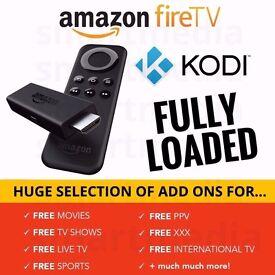 AMAZON FIRE STICK KODI 16.1 FULLY LOADED ✅ MOVIES ✅ SPORT ✅ BOXSETS ✅ TV SHOWS✅PPV EVENTS✅XXX✅