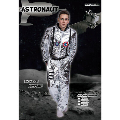 Space Suit Halloween Costume (Adult Astronaut Jumpsuit Costume Cosplay Space Suit Silver Shuttle Halloween)