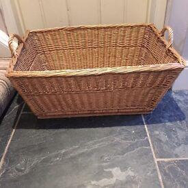 Vintage French Linen Basket