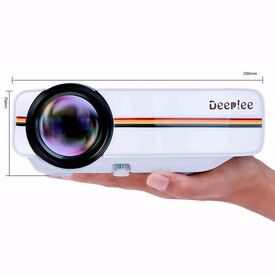 Deeplee Portable Video Projector HD 1080P Full Color