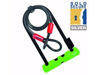 [BRAND NEW] ABUS Ultra Bicycle Bike D-Lock U-Lock + Steel Cable Lock *SOLD SECURE*