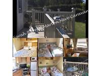 Marton Mere Caravan Hire, dg&ch, Decking & ramp, sleeps 6(3 bedrooms) 💛