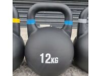 Cast Iron 12kg Kettlebells. UK, NI & ROI