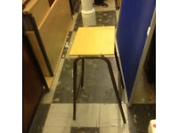 Stackable Lab Stools (Metal & Wood)