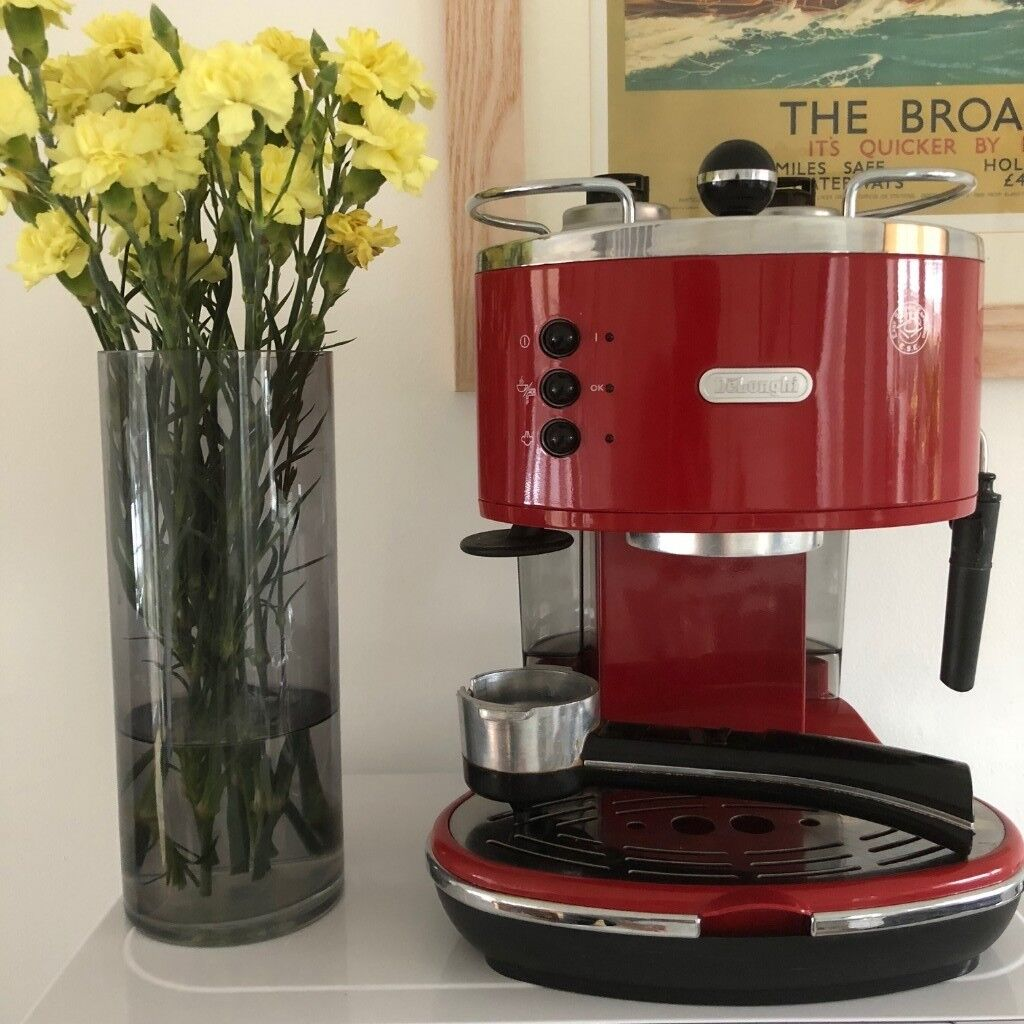 Red Delonghi Icona Espresso And Cappuccino Coffee Maker In Beccles Suffolk Gumtree
