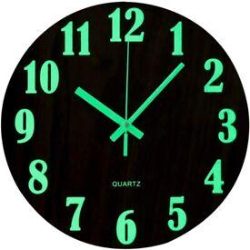 12 Inch Luminous Wall Clock Silent