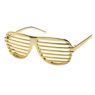 Lustige Gold Shutter Shades Entworfene Sonnenbrille Party Dress Up Requisiten