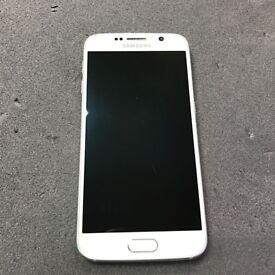 SAMSUNG GALAXY S 6 SIM FREE GRADE B IN WHITE COMES WITH CHARGER AND THREE MONTHS WARRANTY