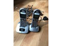 Twin pack BT 4000 big button cordless phones