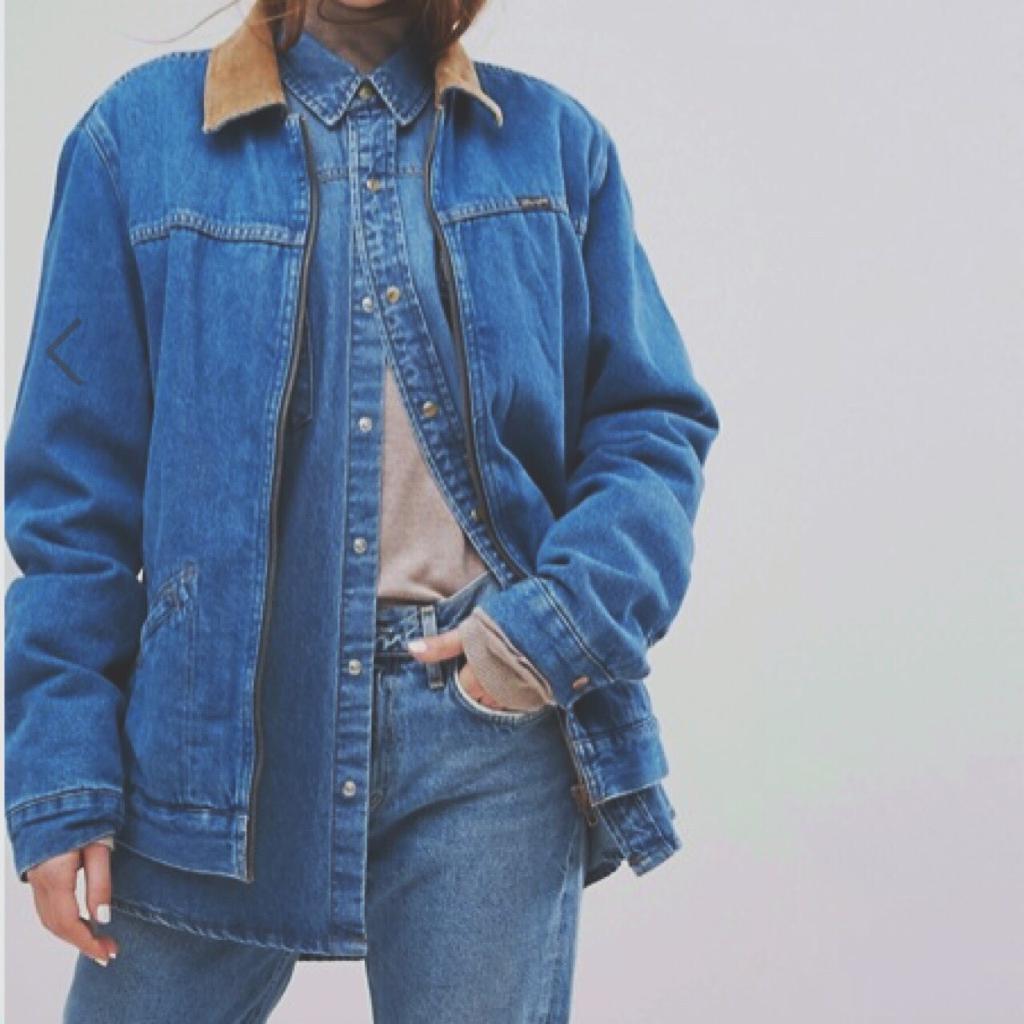 Wrangler Stranger Things Denim Jacket with Cord Collar